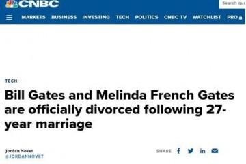美法官签署离婚协议比尔•盖茨夫妇27年婚姻正式结束